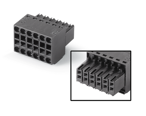 12-pin connector, female 12-pin connector, female 180°, max.: 1.5 mm2 Further information, Quantity and content: see technical data motor - 6AV6671-3XY38-4AX0