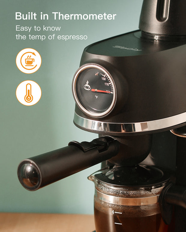 sboly 5409 Espresso Machine with Milk Frother