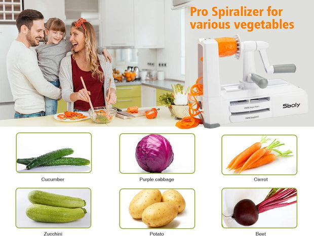 B435 5 Blades in 1 Vegetable Spiralizer