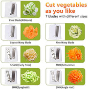 B345 7 Blades in 1 Vegetable Spiralizer