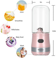 BM01T Pink Portable Mini Blender