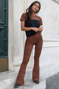 Leopard basic flare brown