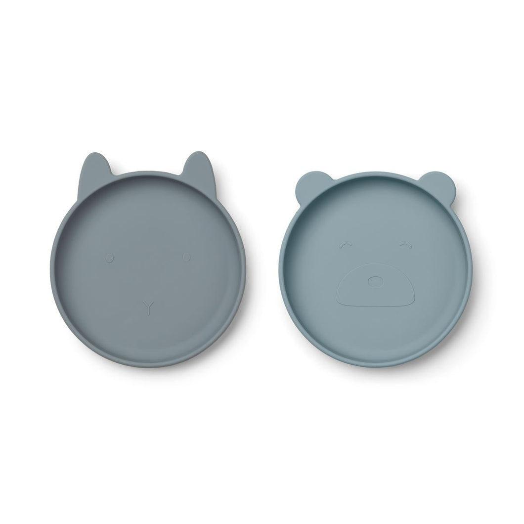 Olivia Plate 2 Pack - Blue mix