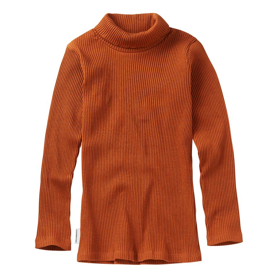 Rib turtle neck dark ginger