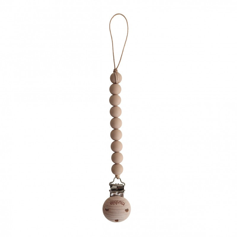 MUSHIE - SPEENKETTING CLEO - pale taupe/wood