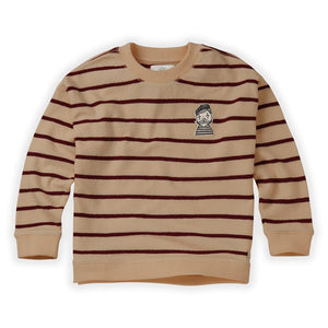 Sweatshirt Loose Stripe