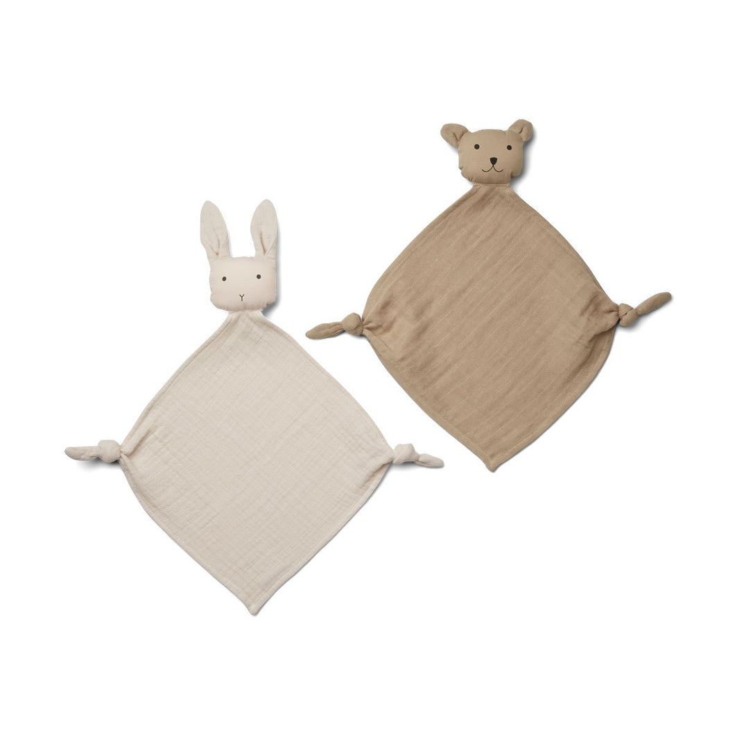 Yoko Mini Cuddle Cloth 2 Pack - Sandy/stone beige