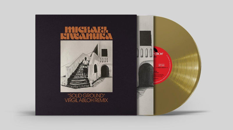 "Michael Kiwanuka - Solid Ground (Virgil Abloh Remix) Gold Vinyl 10"" Single"