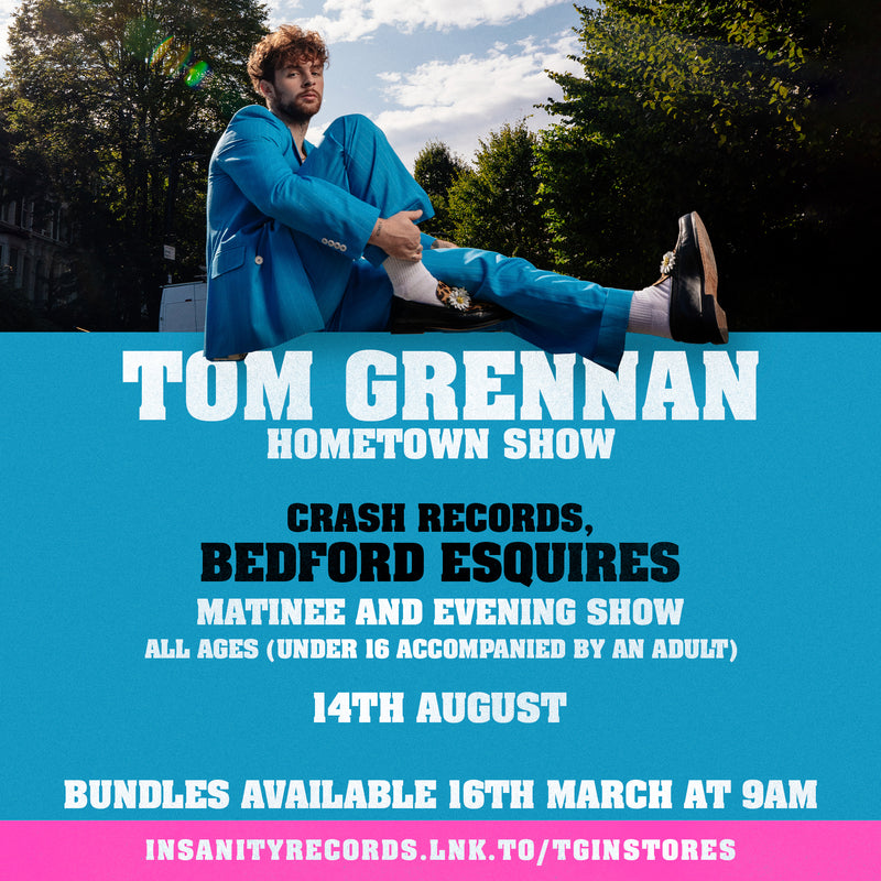 Tom Grennan - Evering Road: Various Formats + Ticket Bundle MATINEE 5pm (Launch Show in Bedford at Bedford Esquires)