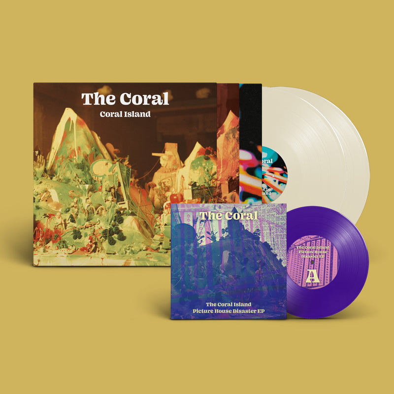 "Coral (The) - Coral Island: Exclusive Clear Gatefold Double Vinyl LP With Bonus 7"" & Signed Art Print *DINKED EXCLUSIVE 095*"