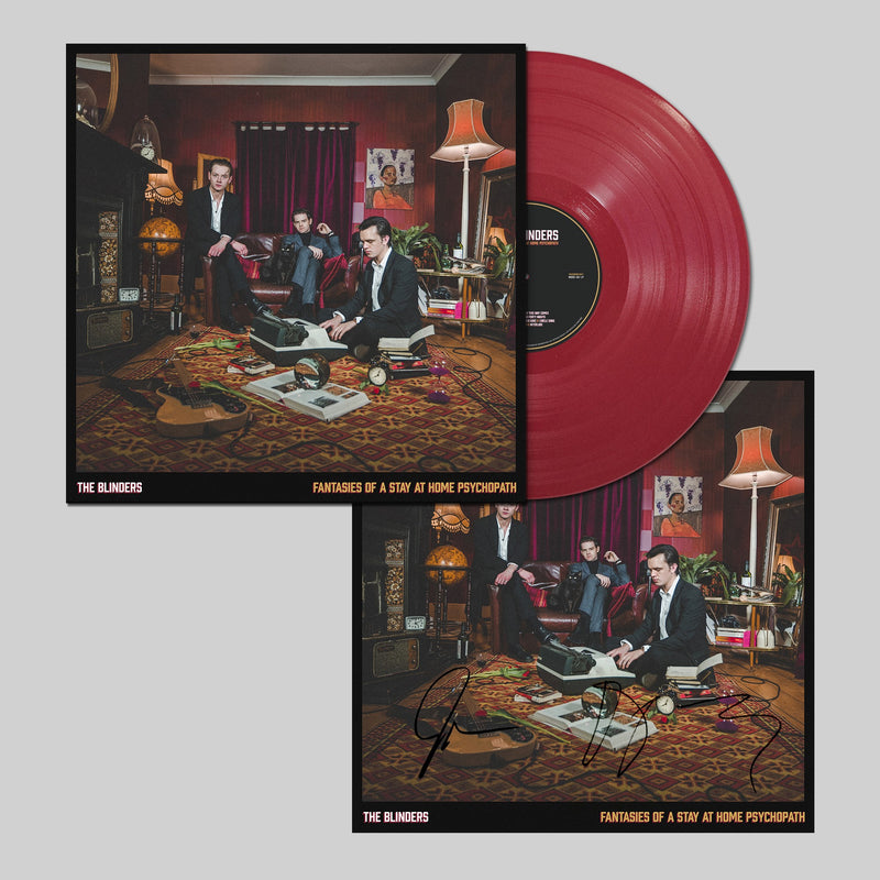 Blinders (The) - Fantasies Of A Stay At Home Psychopath : Limited RED Vinyl LP with Signed and Numbered Art Print *DINKED EXCLUSIVE 042 *Pre-Order