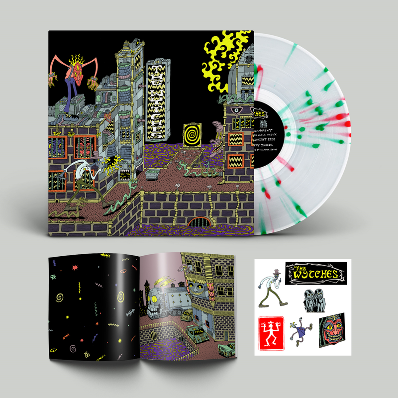 Wytches (The) - Three Mile Ditch: Exclusive Splatter Vinyl LP PLUS Signed Fanzine and sticker sheet *DINKED EXCLUSIVE 061*
