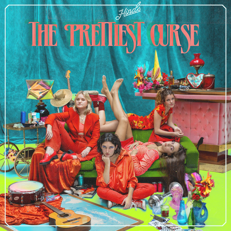"Hinds - The Prettiest Curse: Limited Tri-Stripped Vinyl LP  PLUS Signed Print and Bonus Green 7"" Flexi Disc *DINKED EXCLUSIVE 040 *Pre-Order"