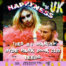 Happyness 14/12/21 @ Hyde Park Book Club *Cancelled