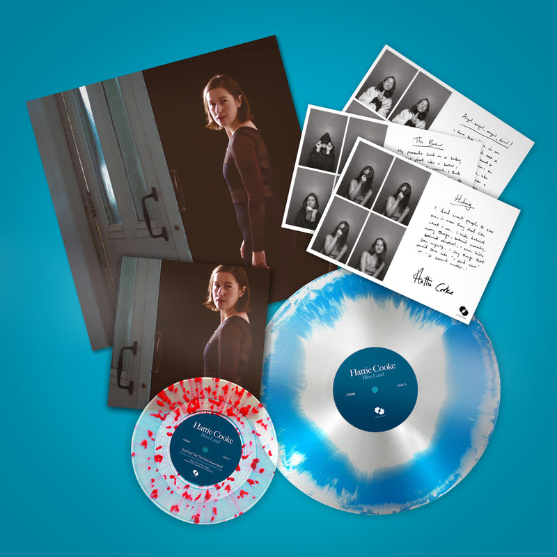 "Hattie Cooke - Bliss Land: : Limited Blue/Silver Haze Vinyl LP With Bonus Splatter 7""+ Signed Art Print *DINKED EXCLUSIVE 105 Pre-Order"