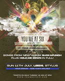 You Me At Six - SUCKAPUNCH: Various Formats + Ticket Bundle (Album Launch gig at Leeds Uni Stylus) *Pre Order