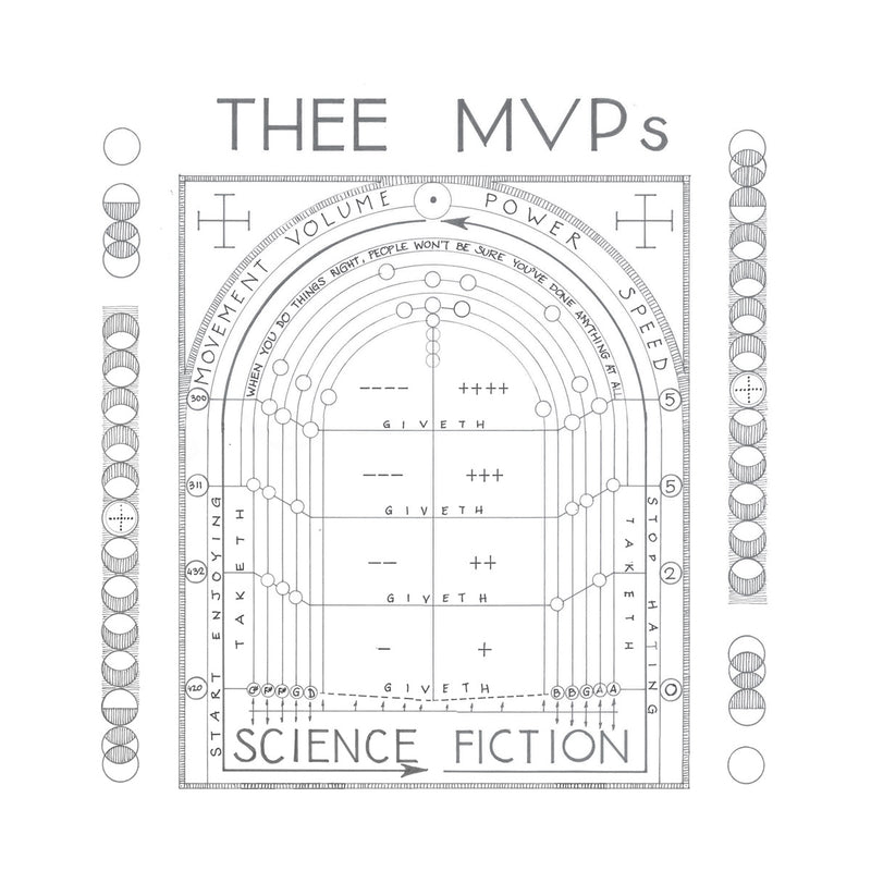 Thee MVPs - Science Fiction: Super Exclusive Splatter BLUE Vinyl LP with Numbered insert and Slipmat *DINKED EXCLUSIVE 048 *Pre-Order