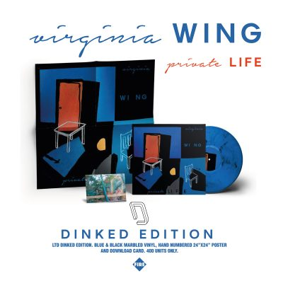 Virginia Wing - private LIFE: Limited Blue Black Marble LP With Poster + Downlaod Postcard *DINKED EXCLUSIVE 079