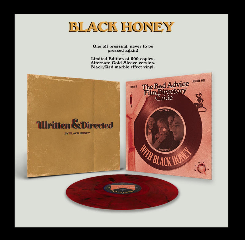 Black Honey - Written & Directed: Limited Black/Red Marble LP With Alternate Cover Art *DINKED EXCLUSIVE 075