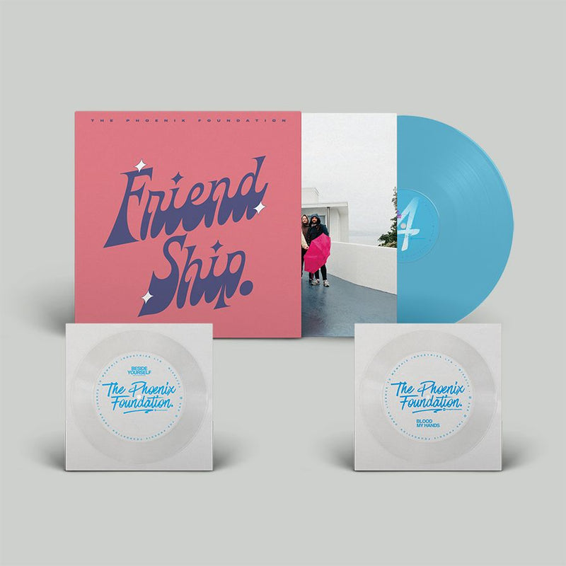 Phoenix Foundation (The)  - Friend Ship : Exclusive Turquoise Vinyl LP in Screenprinted sleeve with 2 bonus Flexidiscs *DINKED EXCLUSIVE 065* Pre-Order