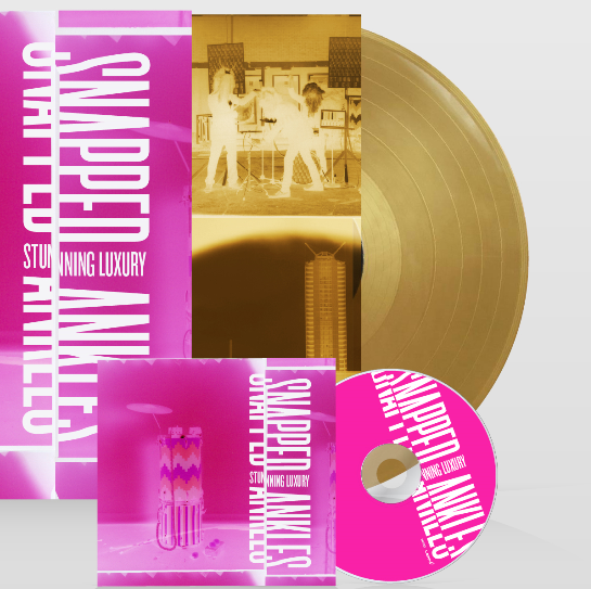 Snapped Ankles - Stunning Luxury: Exclusive Gold Vinyl hand numbered LP *DINKED EXCLUSIVE 006