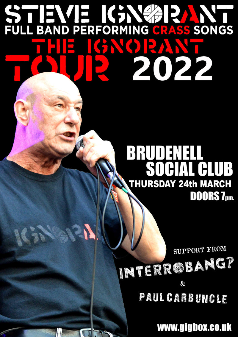 Steve Ignorant 24/03/22 @ Brudenell Social Club