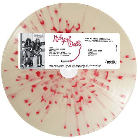 New York Dolls - Live At Radio Luxembourg, Paris 1973: Splatter Vinyl LP