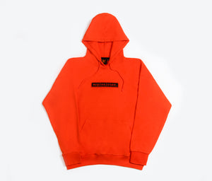 Orange Scratch Hoodie Oversized