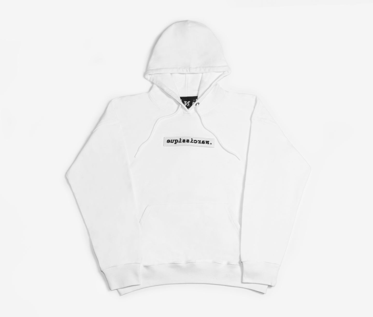 White Scratch Hoodie Oversized