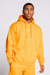 Hoodie Orange Tangerine Oversized - Unisex