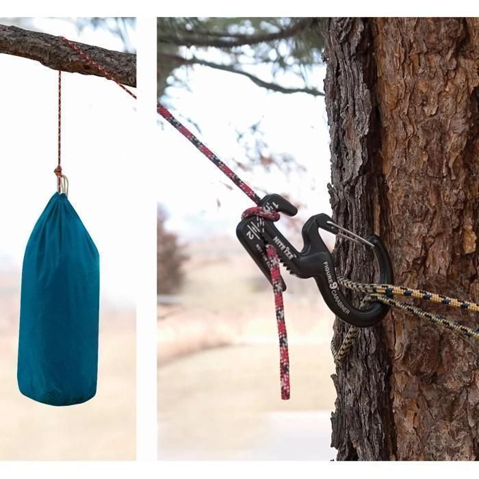 Rope Tightener with Carabiner Clip