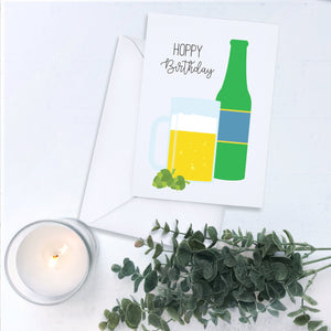Hoppy Birthday Beer Bottle Card
