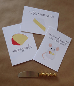 Cheesy Greeting Card Set