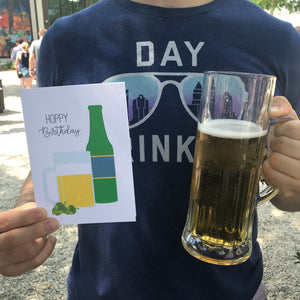 Hoppy Birthday Beer Mug Bottle Card