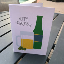 Load image into Gallery viewer, Hoppy Birthday Beer Bottle Punny Card
