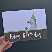 Load image into Gallery viewer, Hoppy Birthday Bunny Rabbit Card