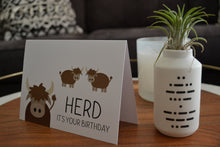 Load image into Gallery viewer, Herd It's Your Birthday Greeting Card