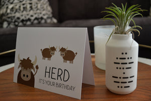Herd It's Your Birthday Greeting Card