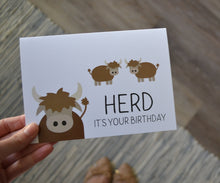 Load image into Gallery viewer, Herd It's Your Birthday Card