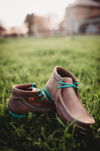 Ladies Twisted X Driving Moc with Turquoise (Size 6 & 8 Only)