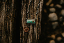 Load image into Gallery viewer, Large Genuine Turquoise and Sterling Silver Bar Necklace