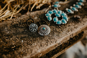 Sterling Silver Concho Hair Ties