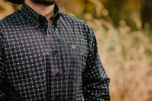 Load image into Gallery viewer, CINCH Men's Navy Geometric Print Button Up
