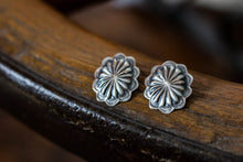 Load image into Gallery viewer, Sterling Silver Concho Stud Earrings