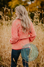 Load image into Gallery viewer, 'Coral Cowgirl' CINCH Fuzzy Pullover