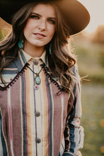 Load image into Gallery viewer, 'Billings' Shirt with Studs and Fringe by Silverado