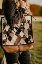 Load image into Gallery viewer, STS Diamond Cowhide Tote Purse
