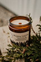 "Load image into Gallery viewer, ""Whisky Lullaby"" Tobacco, Whiskey, and Oak Scented Soy Candle (9 oz)"