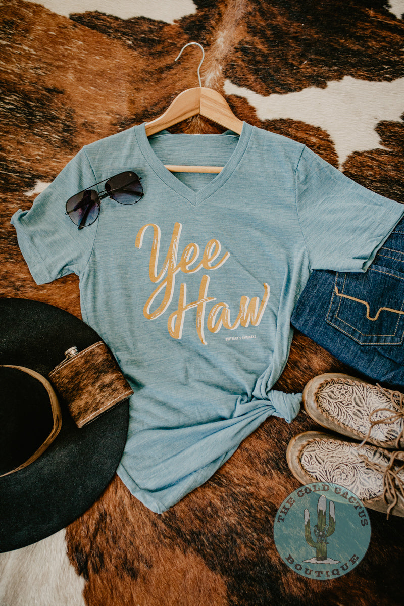 'YeeHaw' V Neck Graphic T