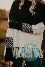 Load image into Gallery viewer, Selena Knit Fringe Colour Block Sweater